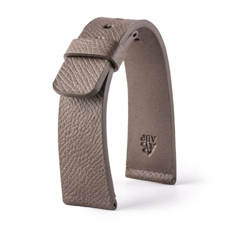 ABP Paris Taupe Grey Grained Calf Leather Apple Watch Strap