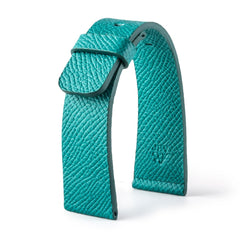 ABP Paris Turquoise Grained Calf Leather Apple Watch Strap