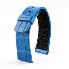 ABP Paris Blue Alligator Leather Apple Watch Strap