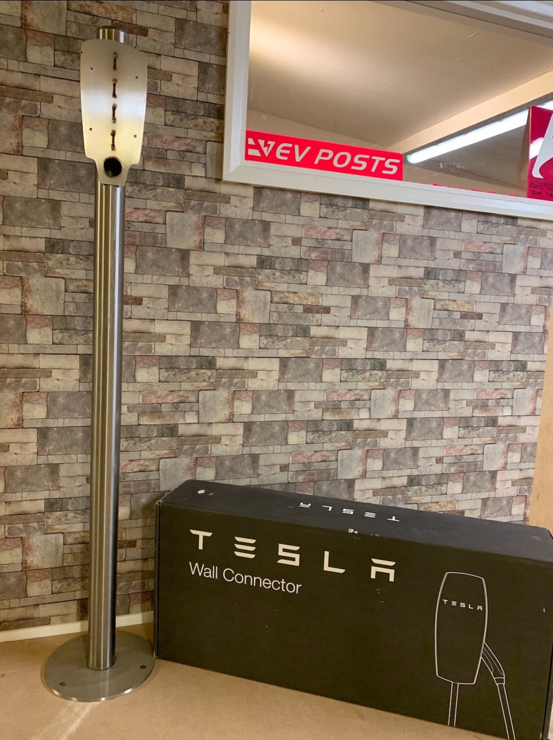 Tesla Generation 2 single point ground mounted charging pedestal