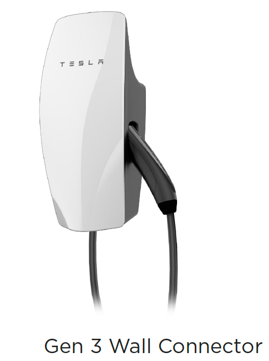 Tesla Generation 3 single point ground cast charging pedestal