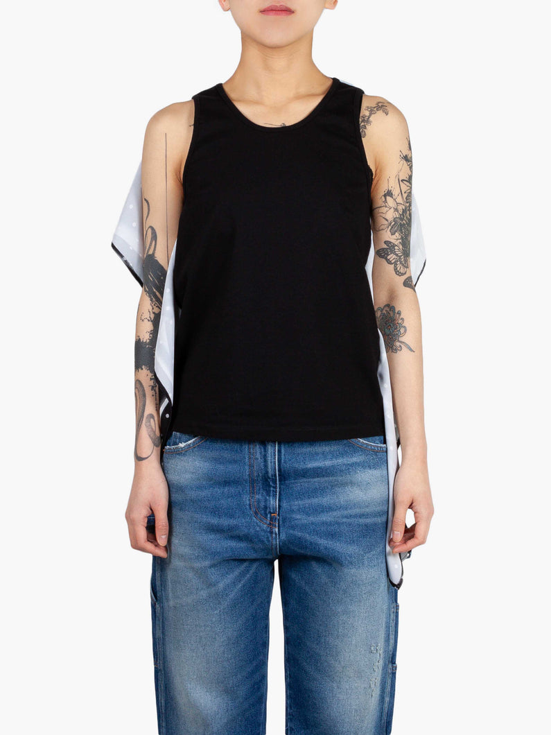 Printed Deconstructed Tank Top