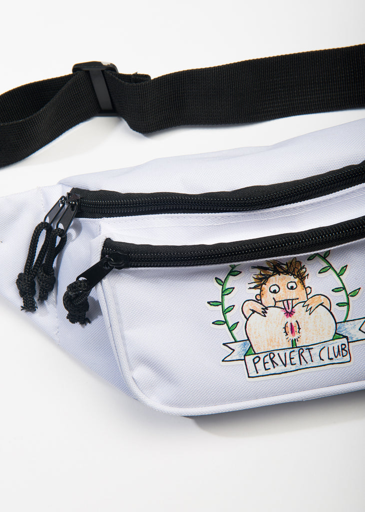 Pervert Club Bum Bag White