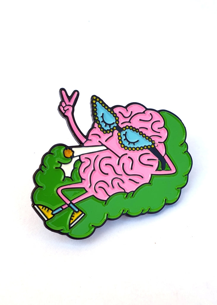 Brain Cloud Enamel Pin