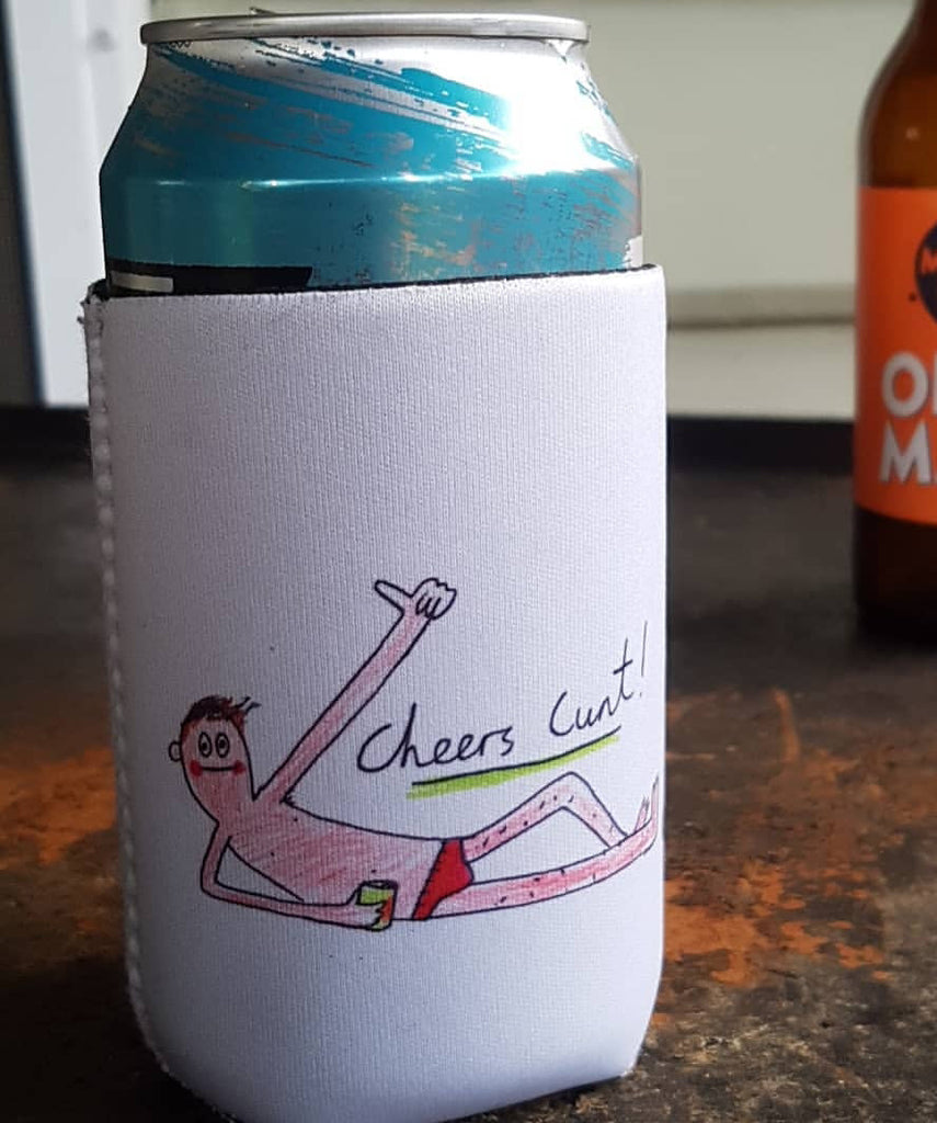 Cheers Cunt Stubby Holder