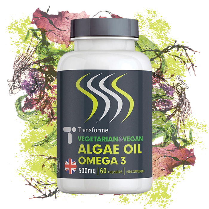 Algae Oil Omega 3 Capsules 500mg, Vegetarian & Vegan Fish Free Omega 3 Fatty Acid