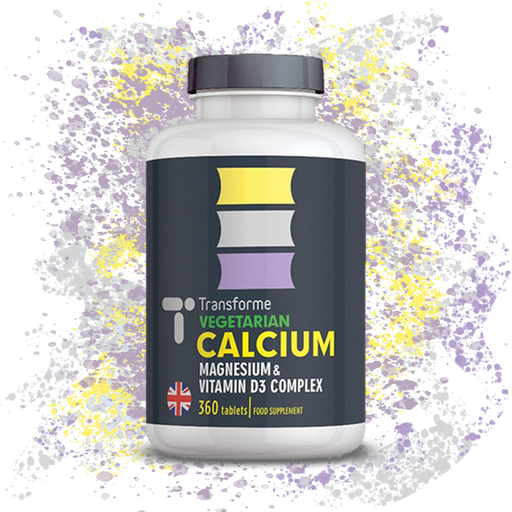 Calcium Magnesium & Vitamin D3 Complex Vegetarian Tablets for Bones, Teeth and Muscle Function