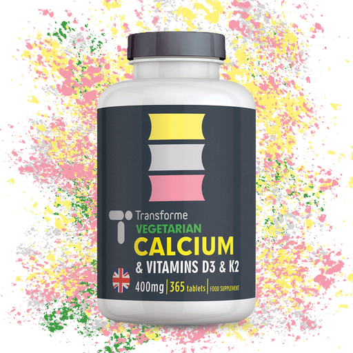 Calcium Vitamin D3 and Vitamin K2 Tablets for Bones, Teeth, Muscle Function and Immune System