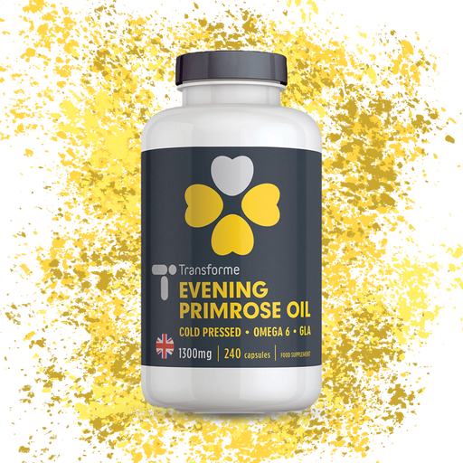 Evening Primrose Oil 1300mg Capsules, Cold Pressed Omega 6, GLA & LA High Strength Softgels