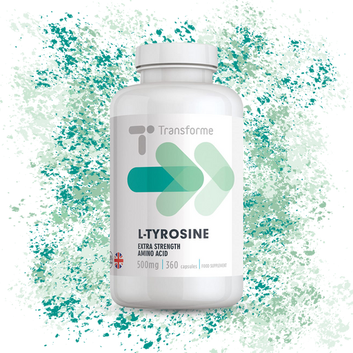 L-Tyrosine Capsules 500mg to 1000mg Serving, High Absorption Amino Acid