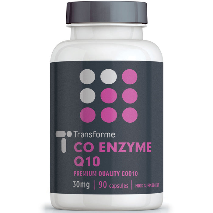 Transforme CoQ10 30mg capsules, 90 Coenzyme Q10 softgels bottle