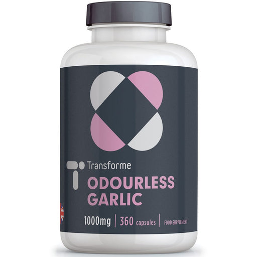 Transforme Odourless Garlic 1000mg capsules supplement, 360 high strength softgels bottle
