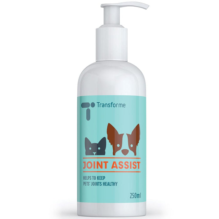 Transforme Joint Assist pump action bottle, liquid Glucosamine Chondroitin joint supplement for dogs & cats