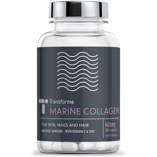 Transforme Marine Collagen High Absorption Hydrolysed Peptides with Vitamin C & Zinc, 120 600mg capsules