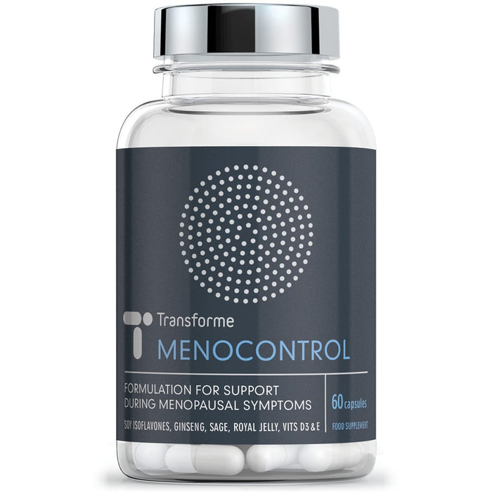 Menopause Supplement, Soy Isoflavones, Sage Leaf, Ginseng, Royal Jelly, Vitamins B6 D3 & E - MenoControl Capsules