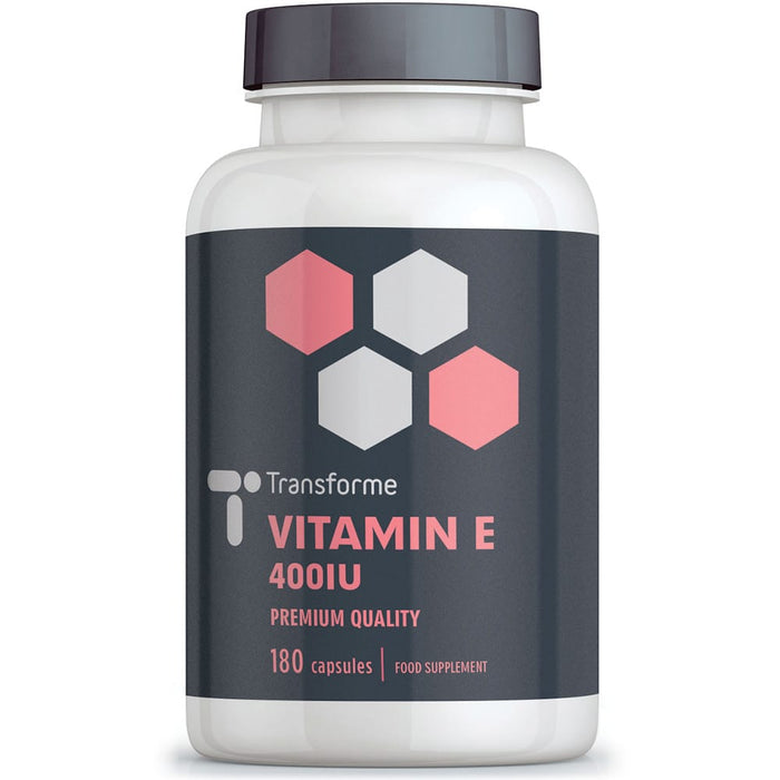 Transforme Vitamin E 400iu softgel capsules, high absorption Vitamin E oil in easy to swallow softgels, 180 bottle