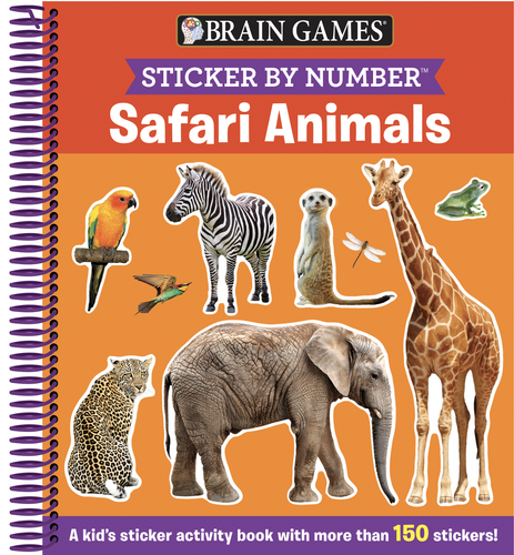 Safari Animals Sticker Activity