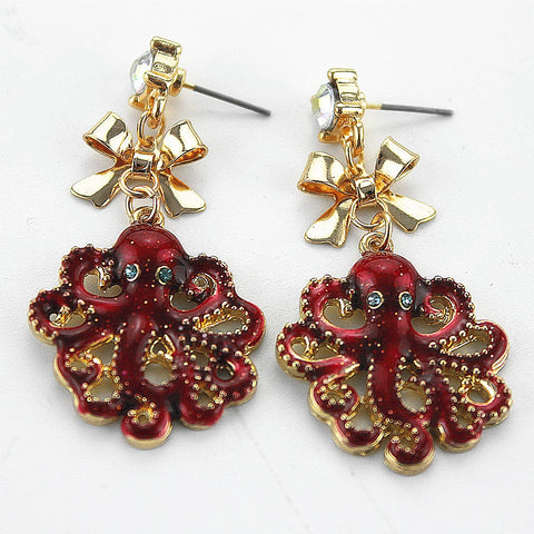 6a622fc7b Octopus arm Earrings Women Men Jewelry | Octopus Sector