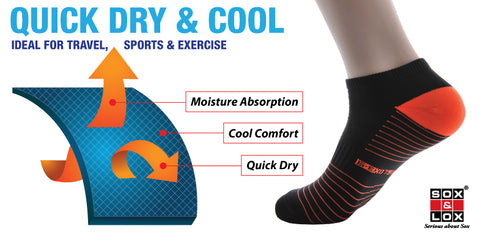 quick dry and cool moisture absorption comfort socks