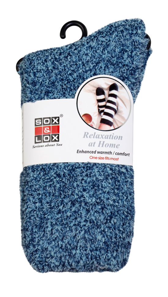 Adults' Bed Socks [Marled Plain] SOX&LOX 100% comfortable best socks