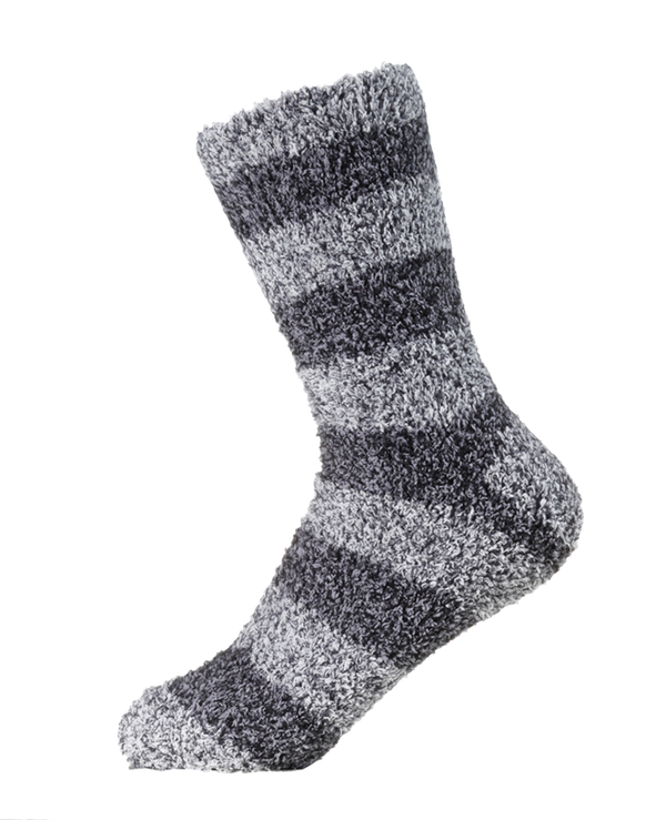 Adults' Bed Socks [Marled Stripe] SOX&LOX 100% comfortable best socks