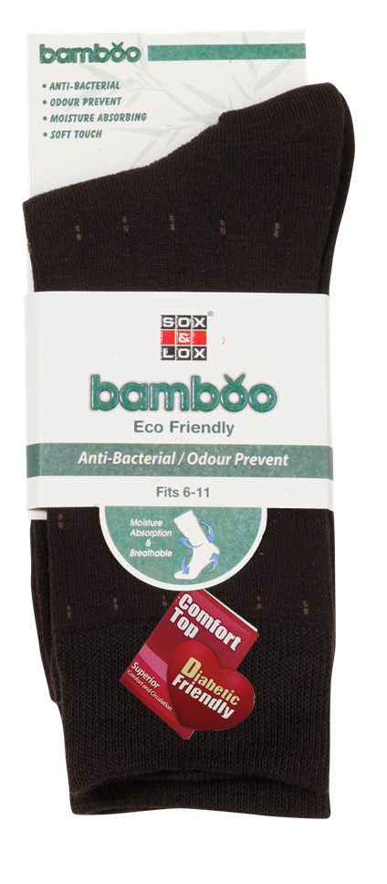 Men's Business  Diabetic Friendly [Bamboo] SOX&LOX 100% comfortable best socks
