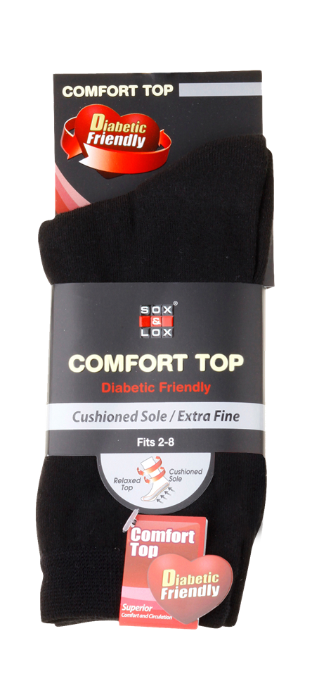 Ladies' Everyday Diabetic Friendly [Fine Cushioned] SOX&LOX 100% comfortable best socks