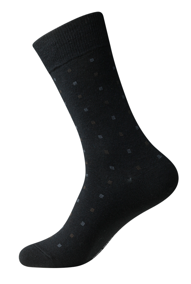 Men's wool business socks with natural elasticity provide extra warmth & comfort