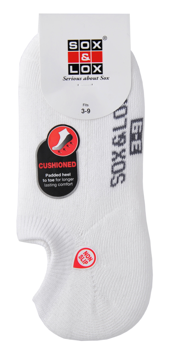 Ladies' Sports Cushioned Low Cut [3D Non-Slip Heel] SOX&LOX 100% comfortable best socks