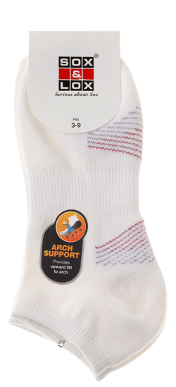 Ladies' Sports Cushioned Low Cut [Arch Support] SOX&LOX 100% comfortable best socks