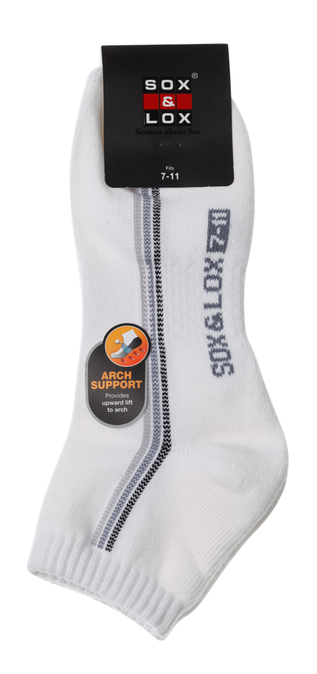 Men's Sports Cushioned Anklet [Arch Support] SOX&LOX 100% comfortable best socks