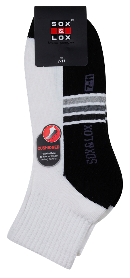 Men's Sports Cushioned Midi [Arch Support] SOX&LOX 100% comfortable best socks
