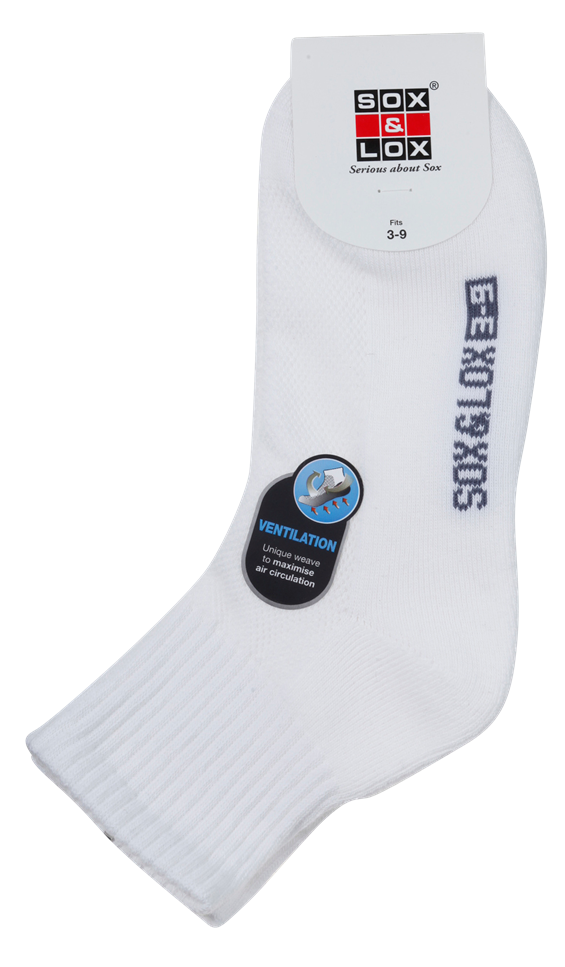 Ladies' Sports Cushioned Midi [Ventilation Panel] SOX&LOX 100% comfortable best socks