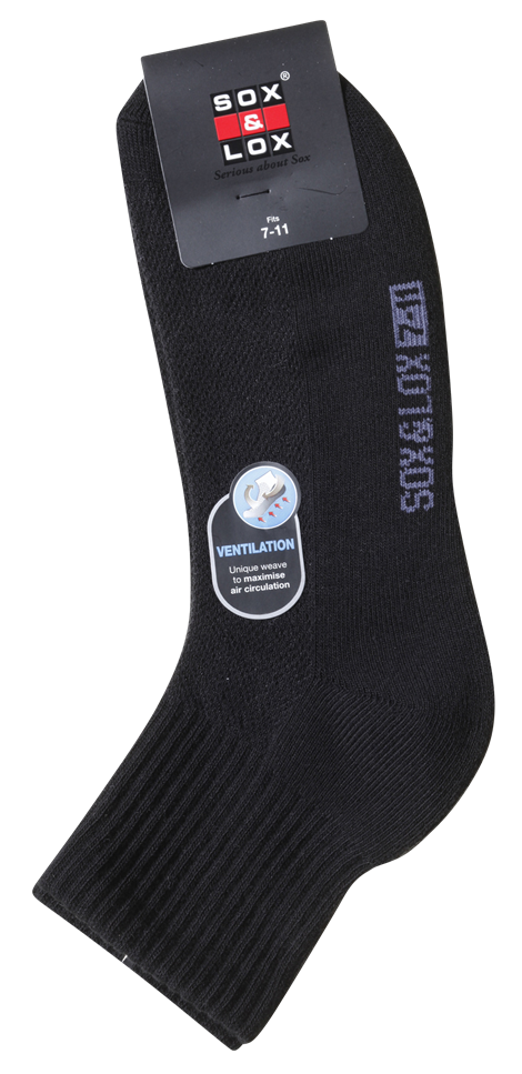Men's Sports Cushioned Midi [Ventilation Panel] SOX&LOX 100% comfortable best socks