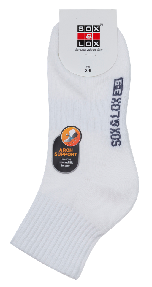 Ladies' Sports Cushioned Midi [Arch Support] SOX&LOX 100% comfortable best socks
