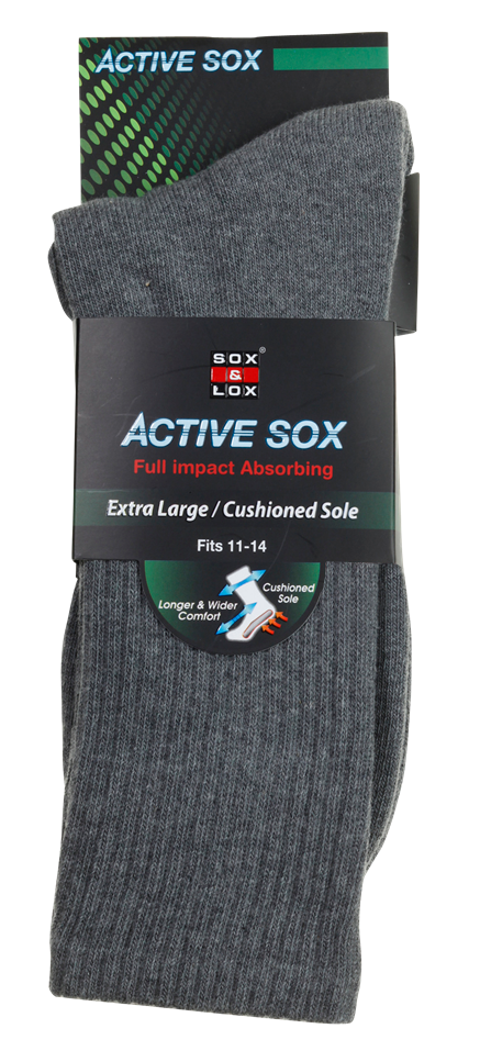 Men's Sports Cushioned Long [Extra Large] SOX&LOX 100% comfortable best socks
