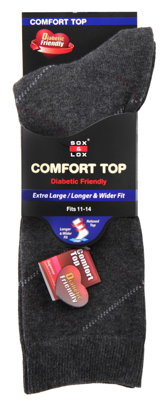 Men's Business Diabetic Friendly [Extra Large] SOX&LOX 100% comfortable best socks