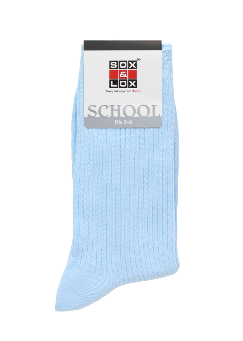 Children's School Long Ribbed (Fits 2-8) SOX&LOX 100% comfortable best socks
