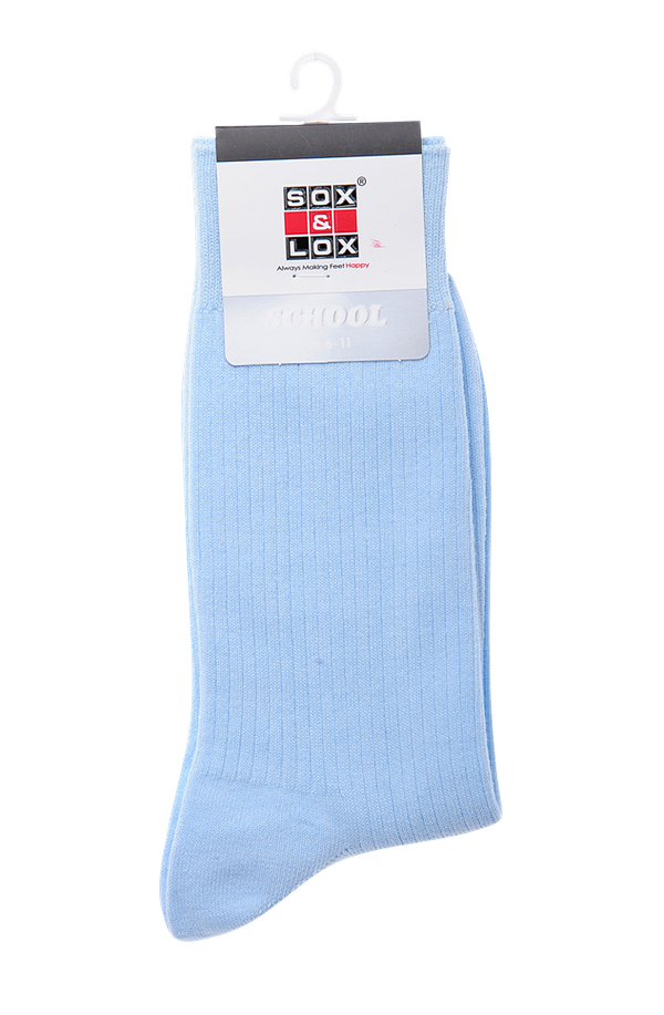 Children's School Long Ribbed (Fits 6-11) SOX&LOX 100% comfortable best socks