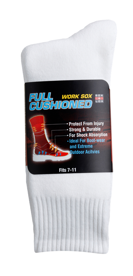 Men's Heavy Duty Full Cushion SOX&LOX 100% comfortable best socks