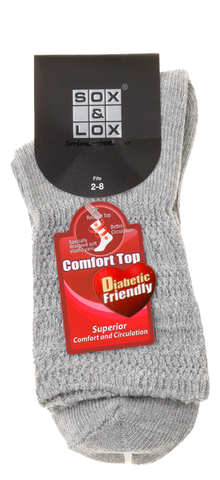 Ladies' Everyday Diabetic Friendly SOX&LOX 100% comfortable best socks