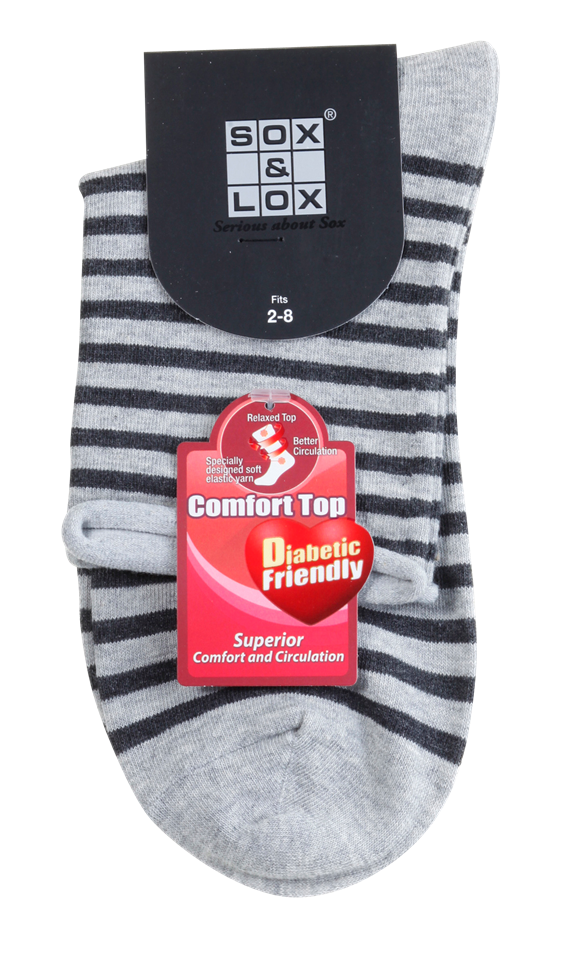 women's diabetic socks designed with soft elastic yarn and made from natural fibres