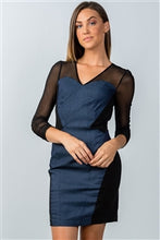 Load image into Gallery viewer, DENIM BODYCON MINI DRESS