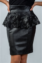 Load image into Gallery viewer, PEPLUM PENCIL SKIRT