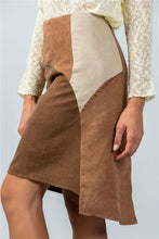 Load image into Gallery viewer, BOHO COLOR-BLOCK MINI SKIRT
