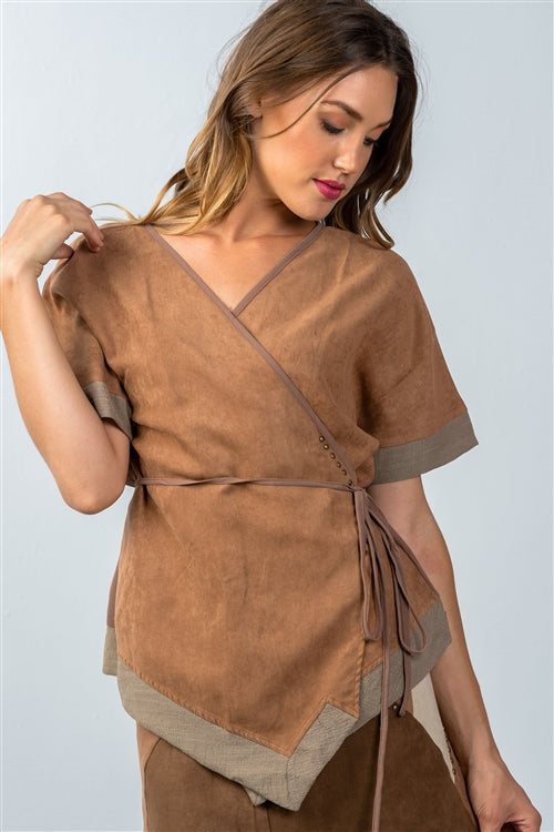 BOHO WRAP AROUND BLOUSE