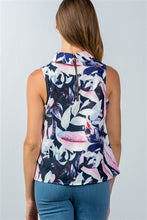 Load image into Gallery viewer, FLORAL LEAF PRINT SLEEVELESS TOP