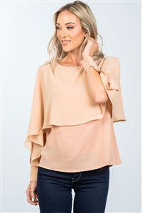 SHEER FLOUNCE LAYERED BLOUSE