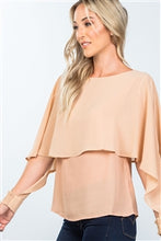 Load image into Gallery viewer, SHEER FLOUNCE LAYERED BLOUSE