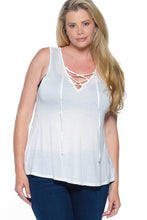 Load image into Gallery viewer, PLUS SIZE CRISSCROSS TOP